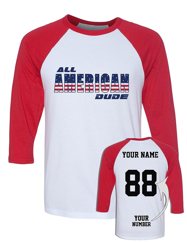 Amazon Custom Jersey 4th Of July Baseball Raglans
