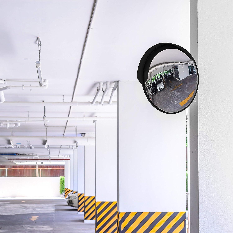/Étend votre champ de vision pour augmenter la s/écurit/é Miroir de s/écurit/é incurv/é r/églable de 30 cm pour lint/érieur et lext/érieur Miroir convexe Premium