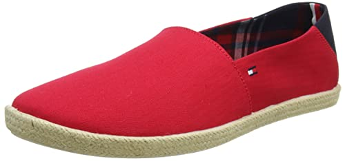 Easy Summer Slip on, Alpargatas para Hombre, Rojo (Tango Red 611), 45 EU Tommy Hilfiger
