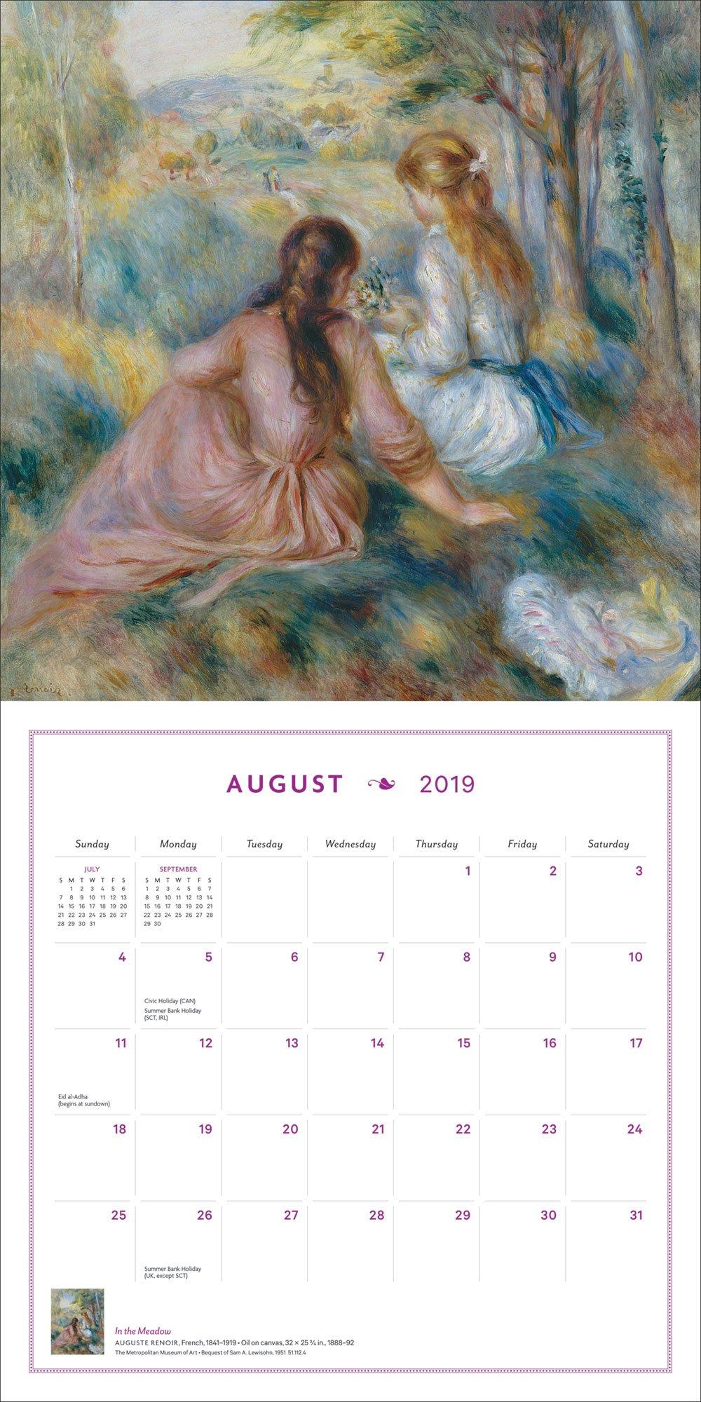 French Impressionist Gardens 2019 Wall Calendar by Harry N. Abrams