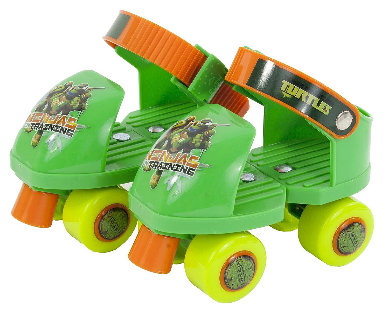 Teenage Mutant Ninja Turtles Rollerskate with Knee Pads, Junior Size 6-12