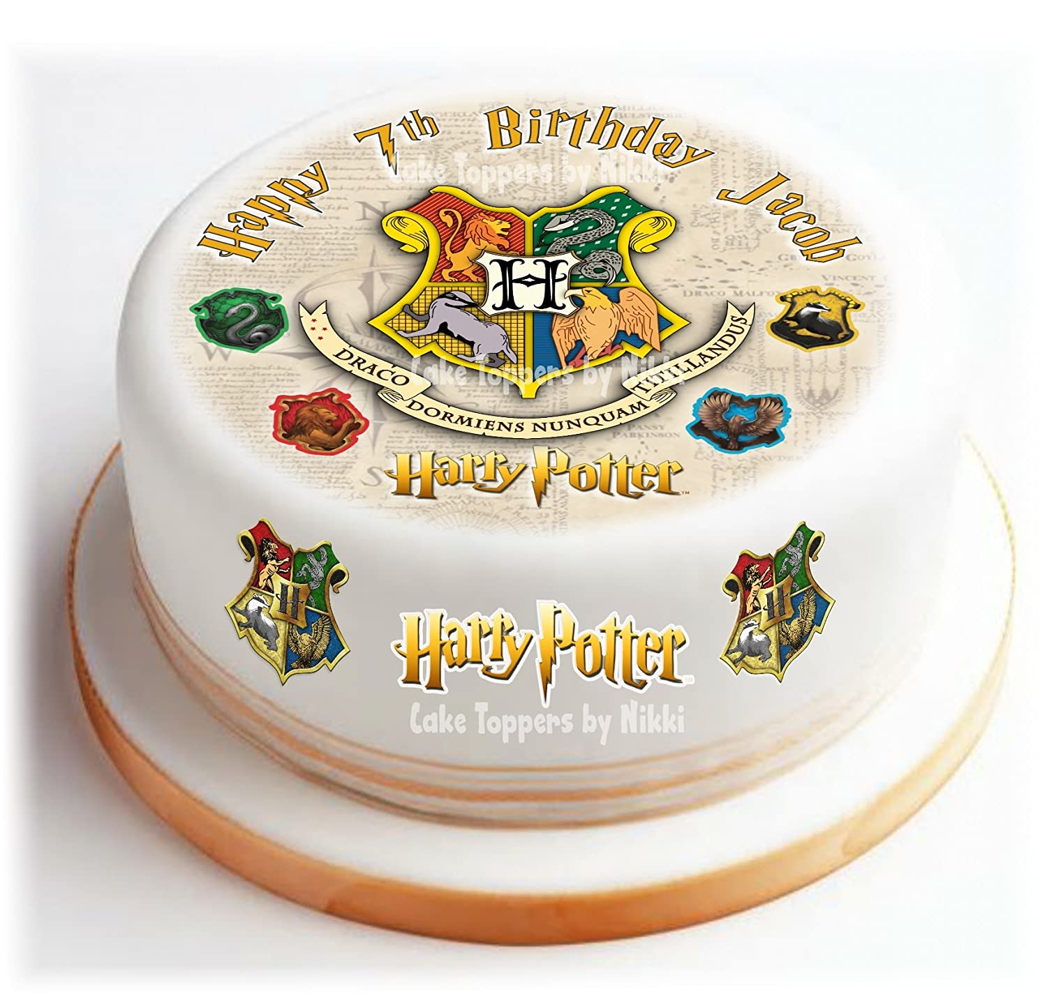 Precut Icing Harry Potter Personalised 15cm Cake Topper 15 Extra