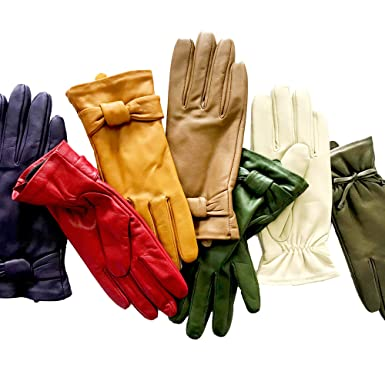 3731e5e7da94e1 YISEVEN Soft Damen Lederhandschuhe für Winter Warm Lammfell Handschuhe 100%  Thermal Lining Pure Warm Driving