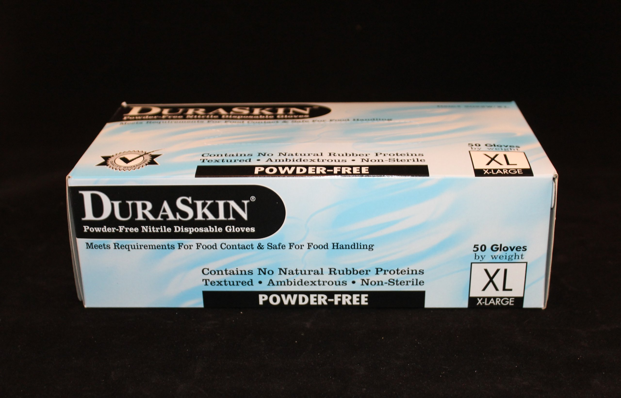 12'' 8 mil Blue Nitrile Food Gloves, PF, 500/case (Extra Large) by DuraSkin (Image #4)