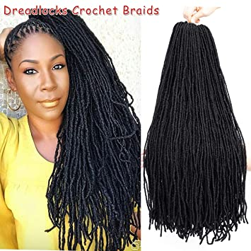 Amazon Com 4packs Natural Faux Locs Crochet Hair Braids 24inch