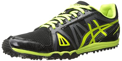 ASICS Men's Hyper XCS Cross Country Spike, Black/Flash Yellow/Carbon, 7