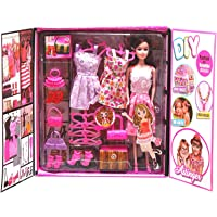 Webby DIY Beautyful Doll Fashion & Accessories (Multicolor)