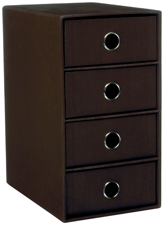 Rössler 1524452874 - Organizador con 4 cajones, color marrón