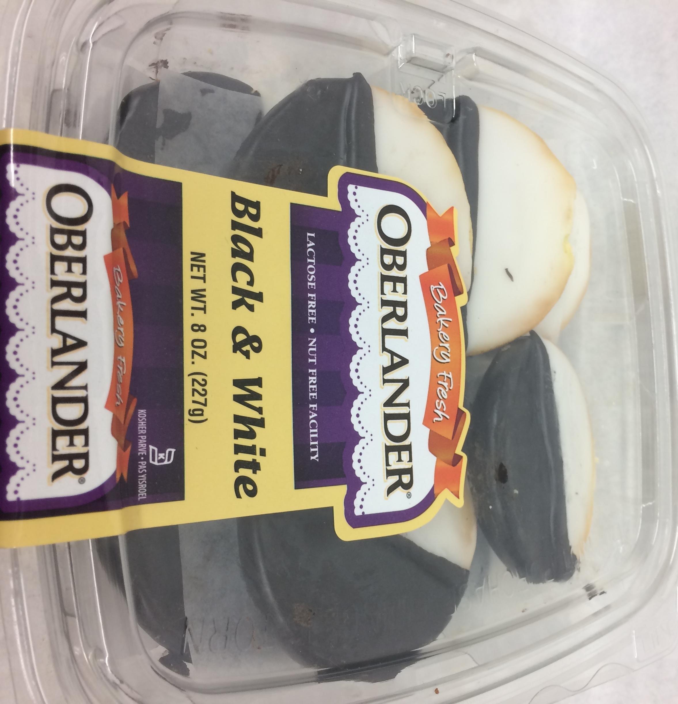 Oberlander Black & White Cookies Nut Free Facility 8 Oz. Pk Of 1.