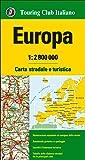 Europa 1:2.800.000. Carta stradale e turistica