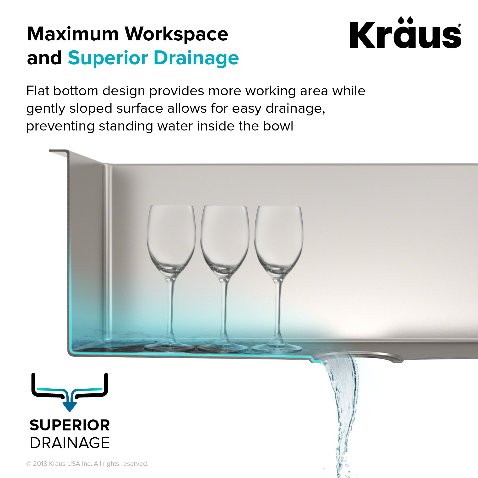 bd6d465574 Kraus Standart PRO 33-inch 16 Gauge Undermount 60/40 Double Bowl Stainless  Steel Kitchen Sink, KHU103-33 - KHU103-33-R20 < Double Bowl < Tools & Home  ...