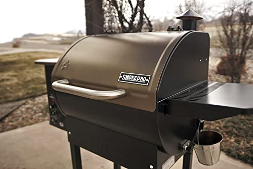 Camp Chef SmokePro DLX Wood Pellet Outdoor BBQ Grill and Smoker, Bronze | PG24B