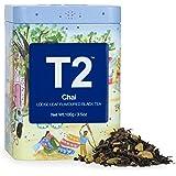 T2 Tea Chai Black Tea, Loose Leaf Black Tea in T2 Icon Tin 2020, 100 g