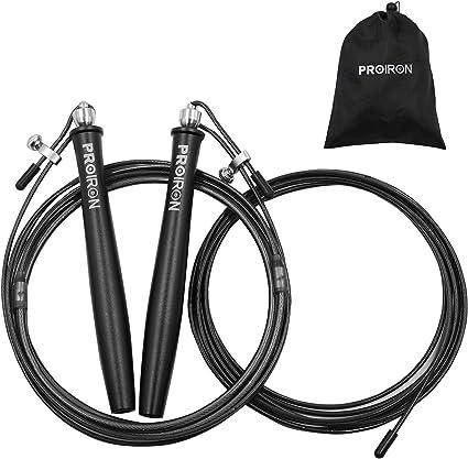 Flexprima Fitness Vitesse Corde À Sauter Corde Unisexe noir neuf avec Stockage Sac UK