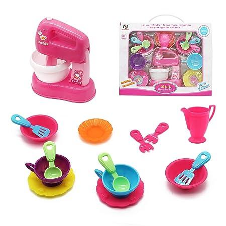 Cocina 16 3 Symiu Pieza Niños Infantil 4 Batidora Juguete Utensilios 5 Accesorios rQsthd