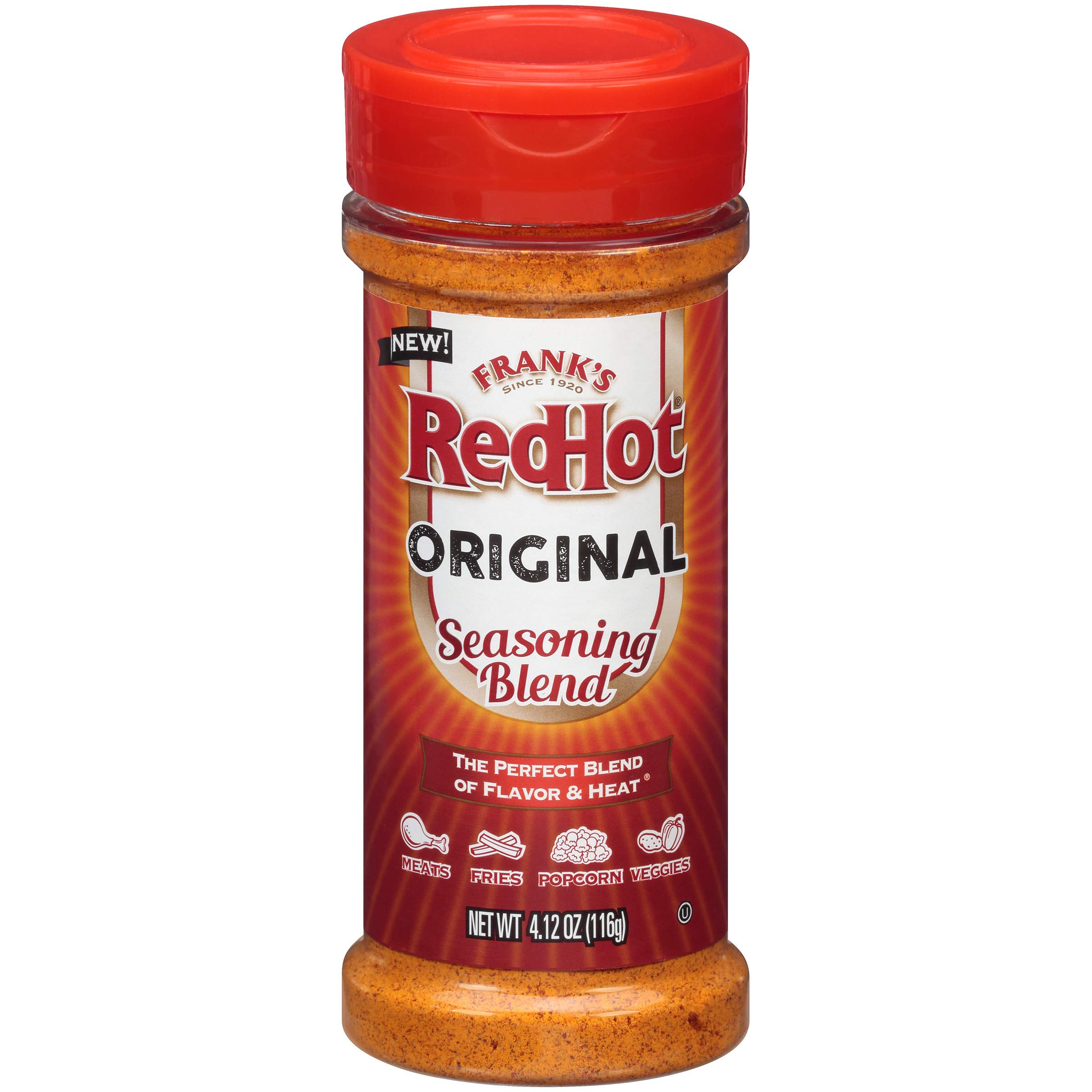 Frank's RedHot Original Seasoning Blend (Hot Sauce Powder) 4.12 oz