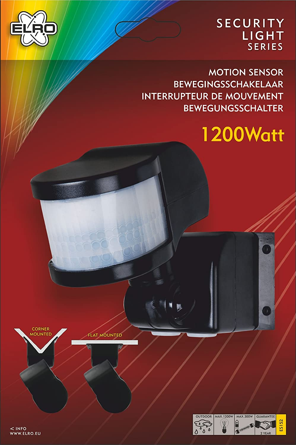 Elro es152 pir motion detector switch area 270 x 12m 1200w max elro es152 pir motion detector switch area 270 x 12m 1200w max black amazon lighting asfbconference2016 Gallery
