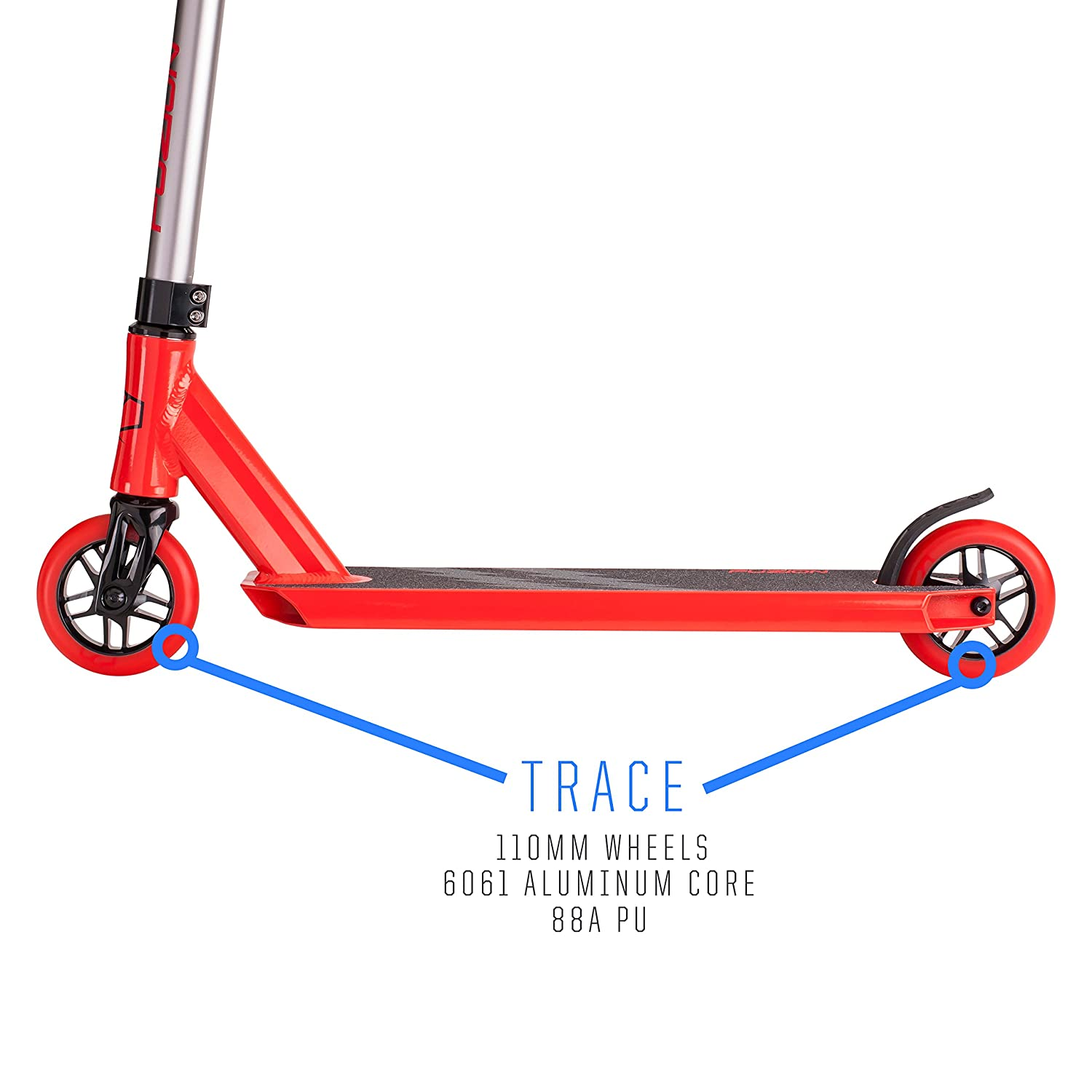 Smooth Freestyle Kick Scooter for Boys and Girls Trick Scooter Intermediate and Beginner Stunt Scooters for Kids 8 Years and Up Teens and Adults Durable Fuzion Z250 Pro Scooters