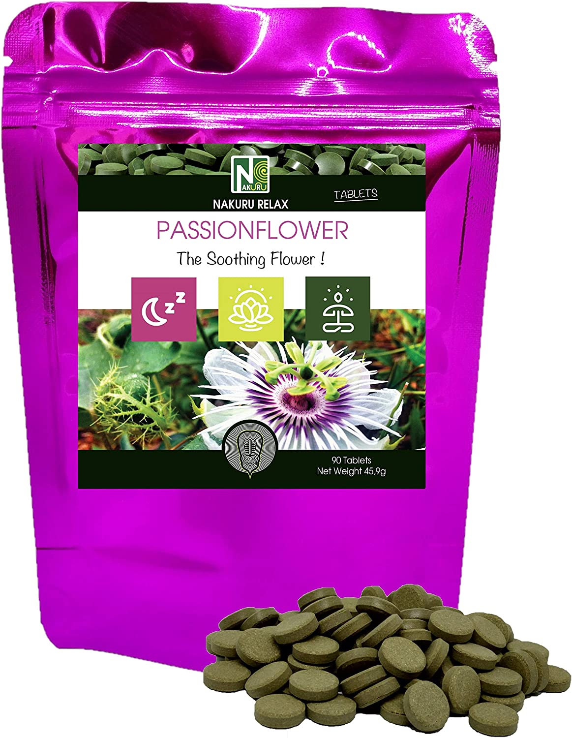 Pack of 30 Tablets Schwabe Pharma RelaxHerb Passion Flower Extract 425g
