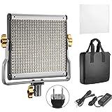 Neewer 調光可能2色LEDプロビデオライト Uブラケット付き スタジオ、YouTube屋外ビデオ写真照明キットに対応 耐久性金属フレーム 480LEDビーズ、3200-5600K、CRI 96+
