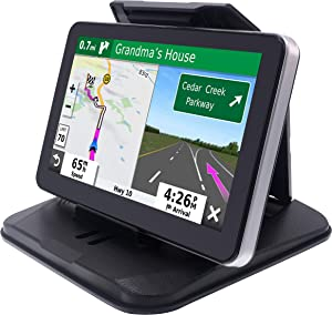 "iSaddle Dashboard GPS Mount Holder - Universal Dashbaord Phone Tablet PC Navigation Holder for Garmin Nuvi Tomtom iPhone iPad Galaxy Yoga Android Fits 4.3""-9.6"" GPS & Smartphone Friction Mount Holder"
