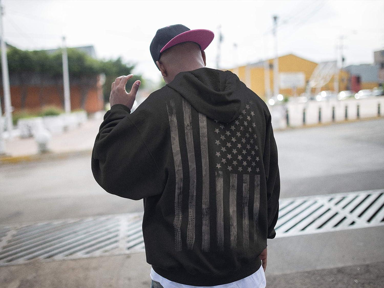 Bike-r Rock Motero Chopper Bandera USA Hoodie US-Army Camo Sweat-Shirt Estados Unidos de Am/érica United States Regalo Hombre-s y Mujer-es Sudadera con Capucha: Stars and Stripes con Bordado