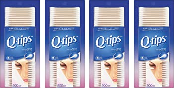 4 Pk. Q-tips Cotton Swabs 500 Count