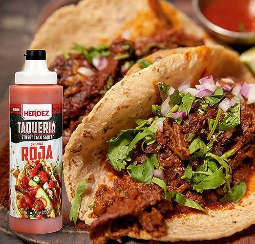 Amazon.com : Herdez Taqueria Street Taco Sauce SALSA VERDE 2-9 oz Pack/Gluten Free (Salsa Verde 2 Pack) : Grocery & Gourmet Food