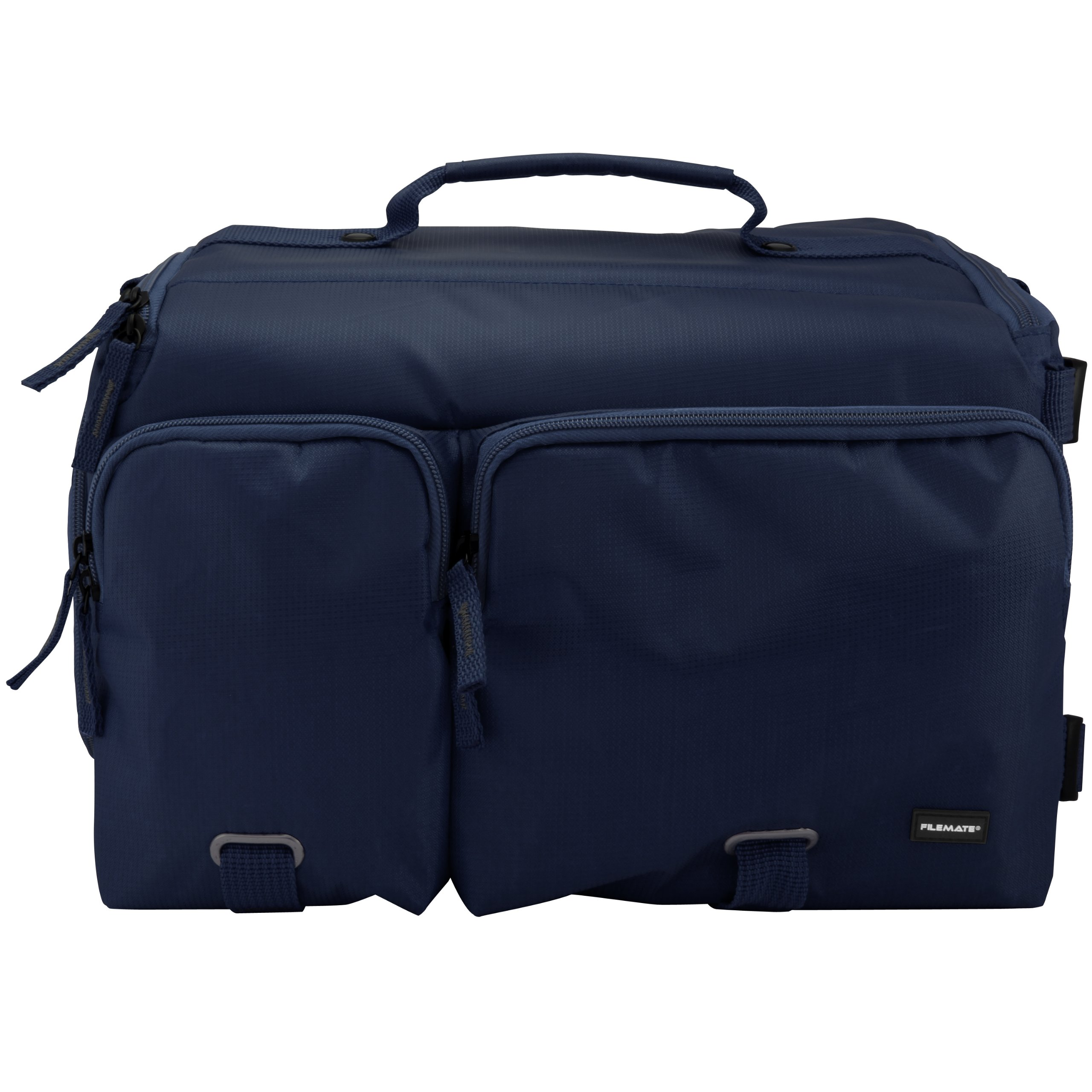 Filemate 3FMCG230NV3-R ECOProfessional SLR CameraBag with Two Front Pockets (Navy Blue)