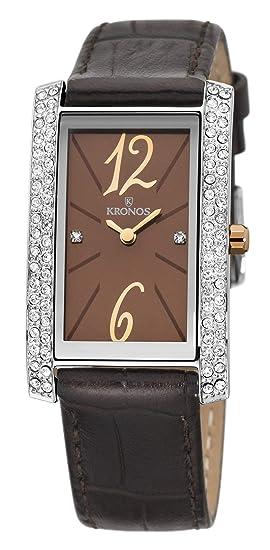 Kronos - Ladies Chocolate 918.52 - Reloj de señora de Cuarzo, Correa de Piel marrón