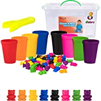 Driddle Colorful Counting Bears with Matching Cups - Sort, Count & Color Recognition Learning Toy for Toddler & Kids…