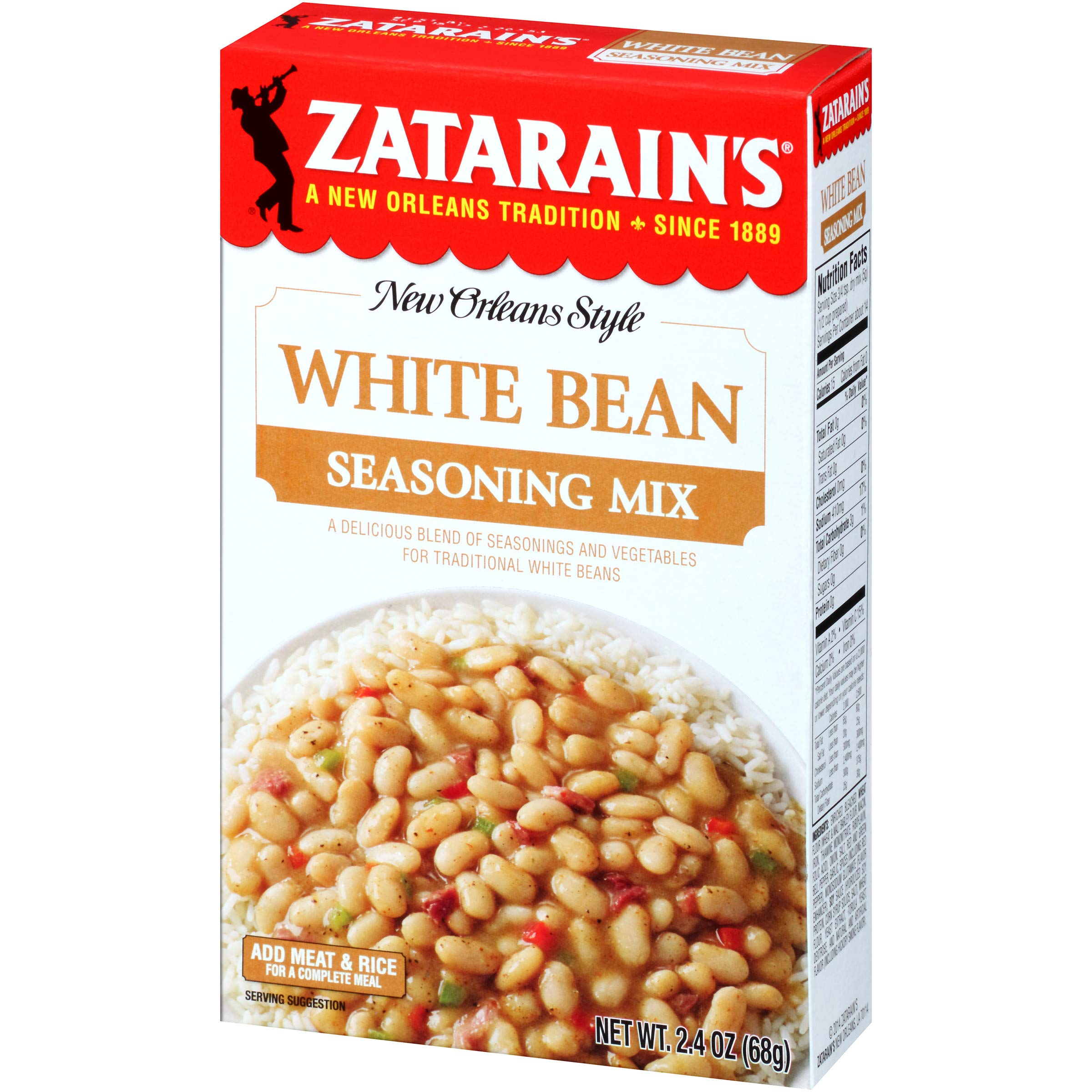Zatarain's White Bean Seasoning Mix, 2.4 oz by Zatarain's