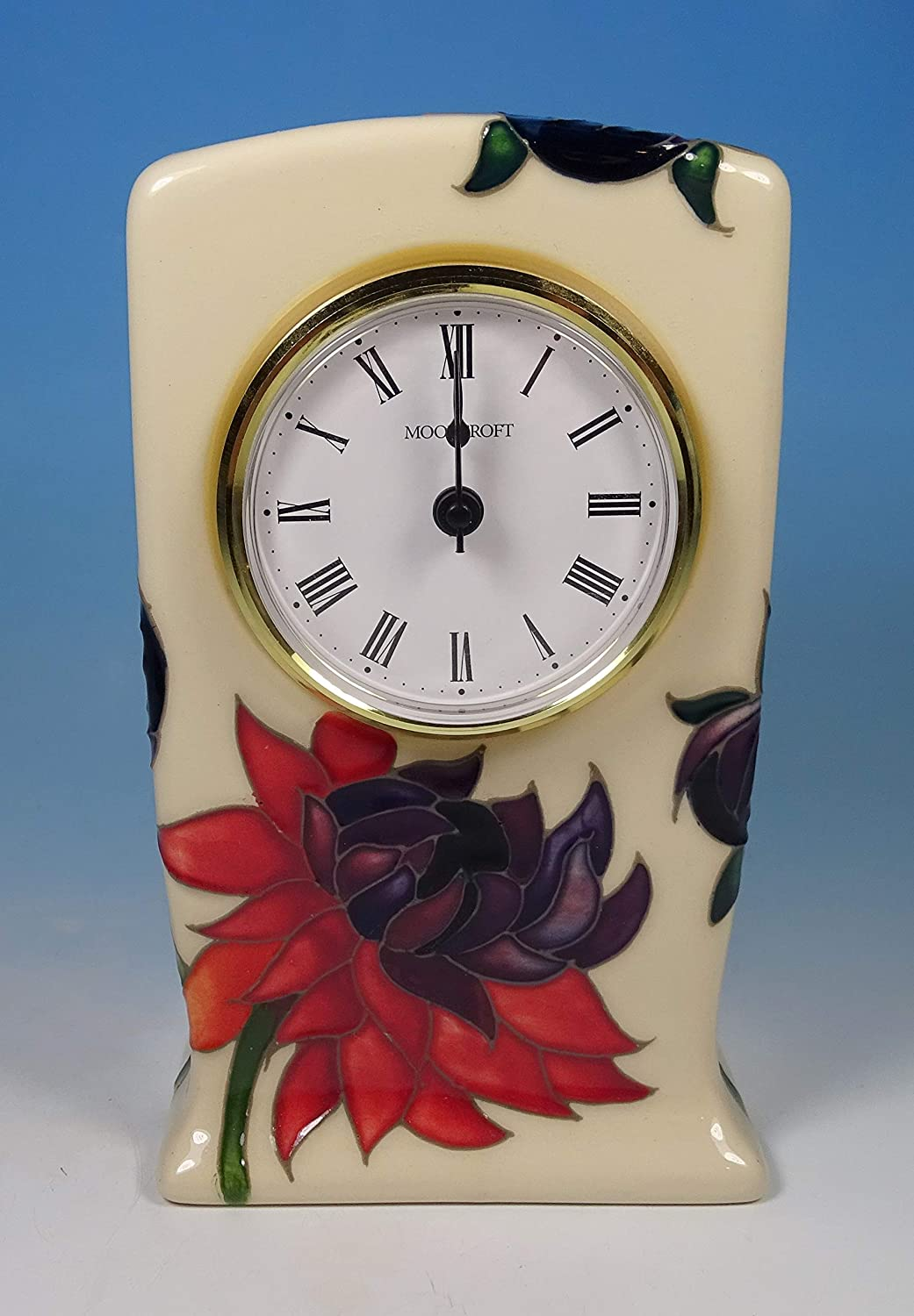 Clocks Home & Kitchen Moorcroft Pottery Ruby Red 6 Mantel
