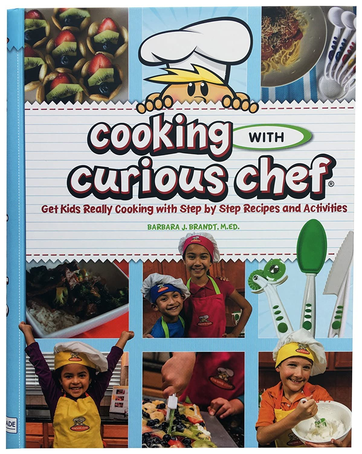 Curious ChefCooking with Curious Chef Cookbook, Multicolor TCC50225