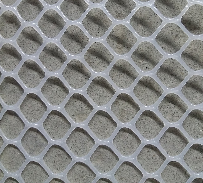 V Protek 4x20ft Plastic Poultry Fence Poultry Netting,Chicken Net Fence for Flower Plants Support,White by V Protek