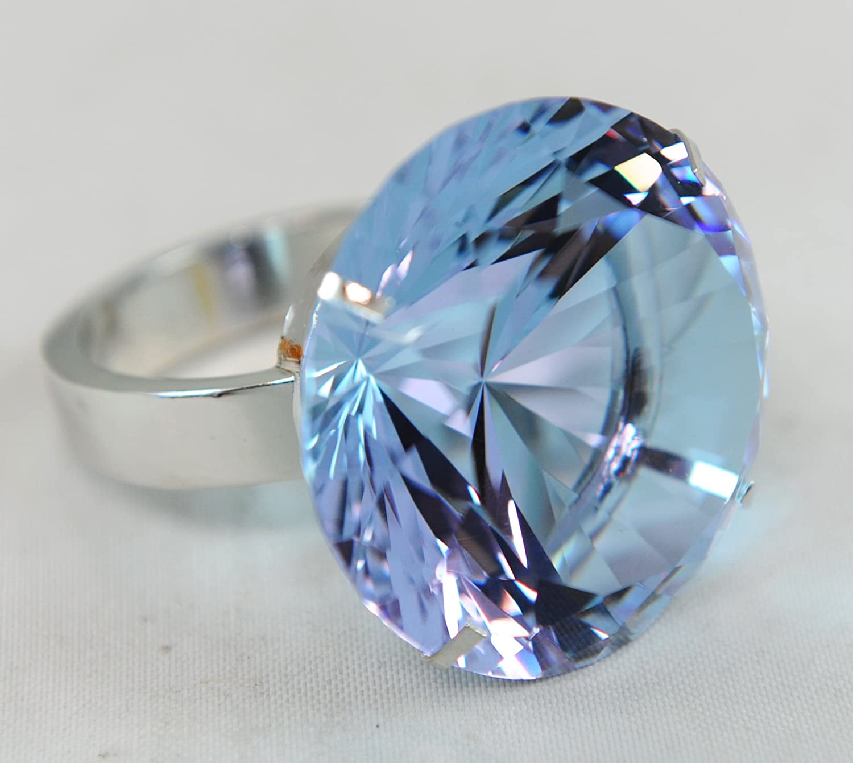 Kristall Kristall Kristall Diamant Juwel Briefbeschwerer 50 mm hellblau Ring B003NBHVY6 | Moderne Muster  5cbf91