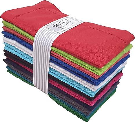 20 X 20 100/% Cotton Fabric ShalinIndia Printed Colored Napkins Set of 6 Size