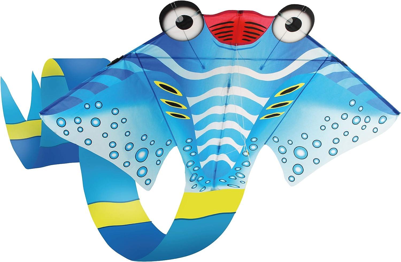 Giant Parafoil 3D Frameless Dolphin Kite 6 1//2 Ft FREE Kite Reel Get Attention