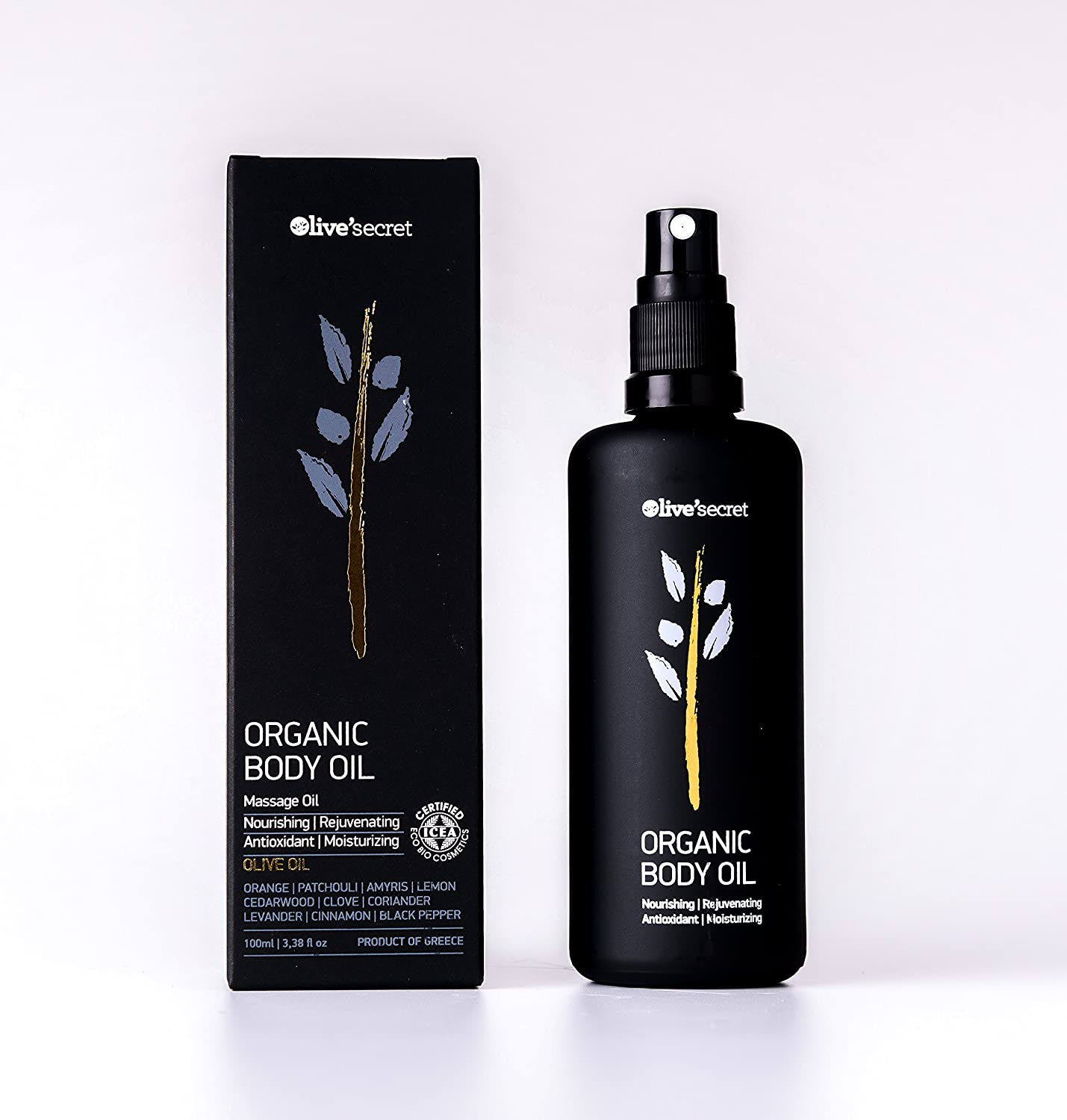 Amazon com : Organic Body Oil from Olive Secret  Rich organic