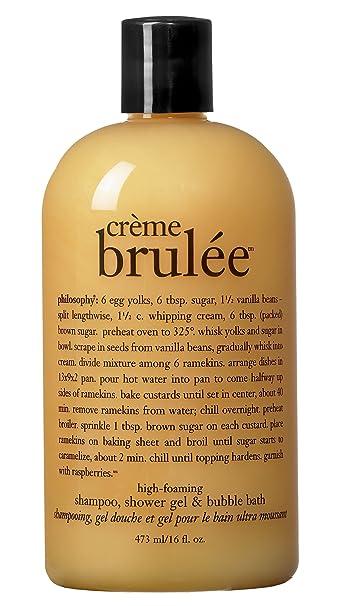 Philosophy Creme Brulee Shampoo Shower Gel Bubble Bath 16 Ounces