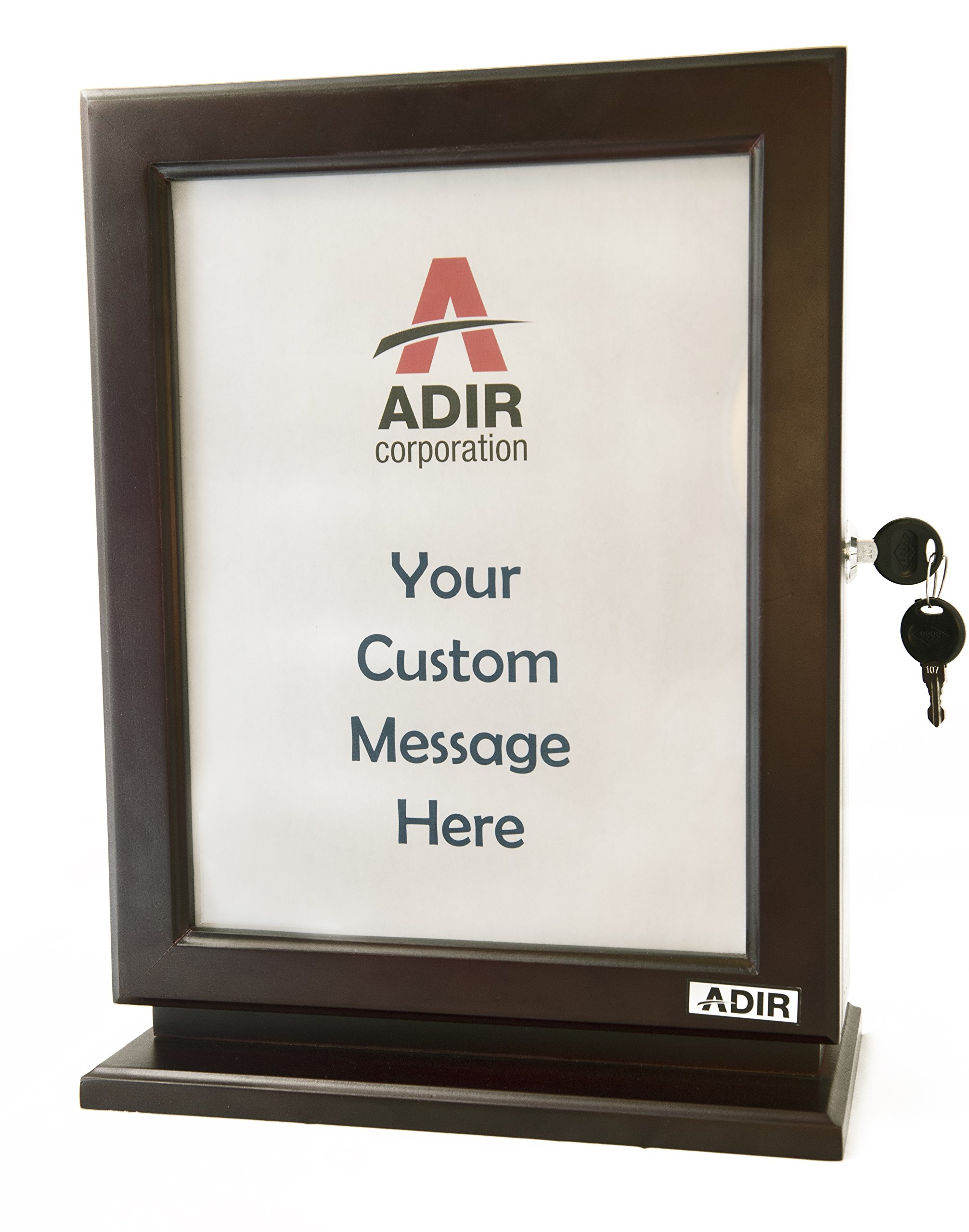 Adir Customizable Wood Suggestion Box - Mahogany - with a Free Pack of Refill Suggestion Box Cards by Adir Corp.