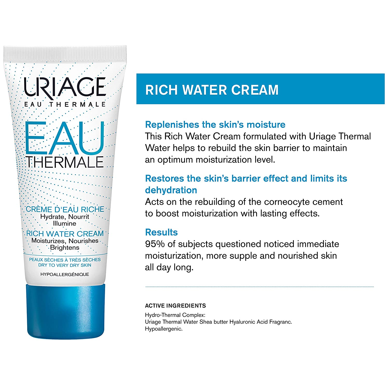 URIAGE Thermal Water Cream – Best Moisturizers for black skin