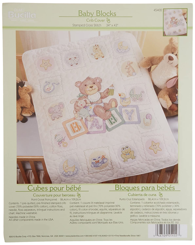 Bucilla Baby Counted Cross Stitch Birth Record Kit, 45403 Blocks Plaid Inc.