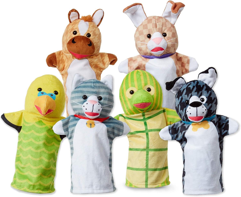 B07MFMBYJR Melissa & Doug Pet Buddies Hand Puppets, Set of 6 (Cat, Dog, Horse, Parrot, Turtle, Rabbit) 81EbPkzXTsL
