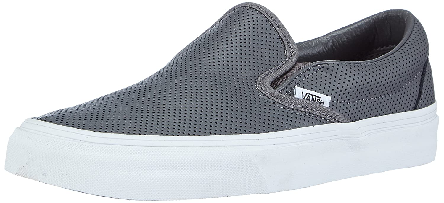 Vans Unisex Classic Slip-On (Perf Leather) Skate Shoe B00RPR60AU 11 M US Women / 9.5 M US Men|Smoked Peark