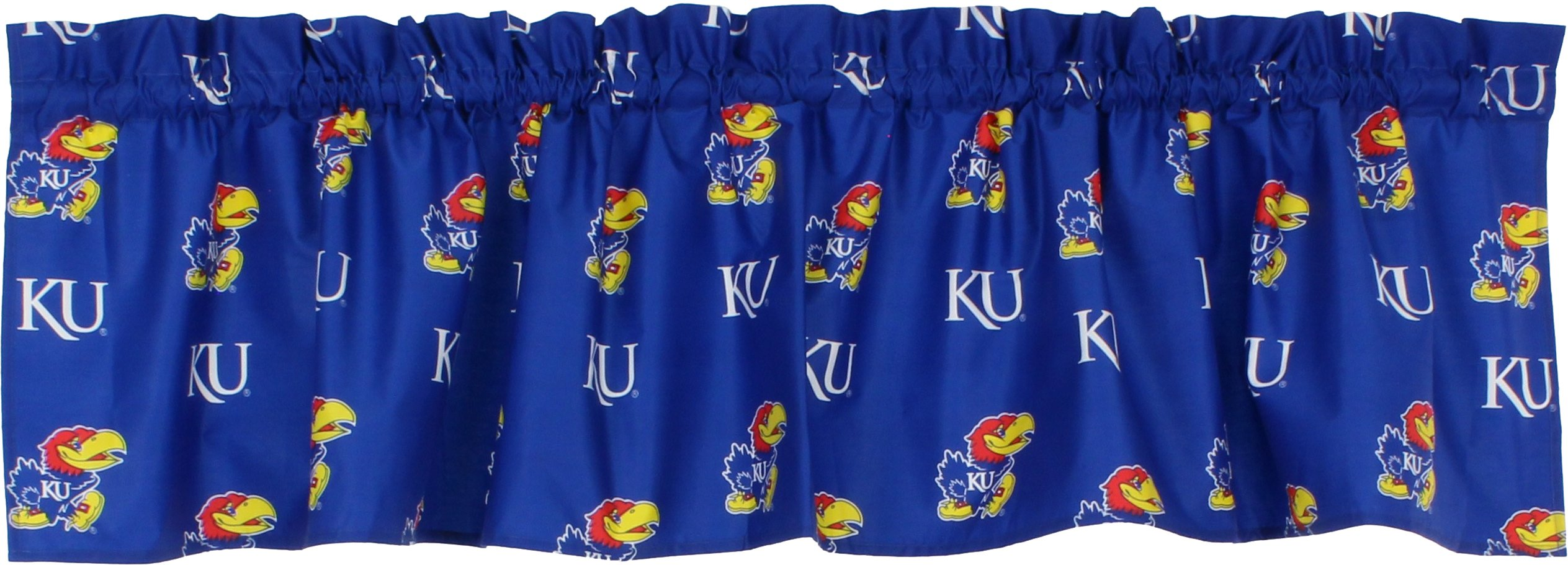 College Covers Kansas Jayhawks Printed Curtain Valance, 84 by 15''
