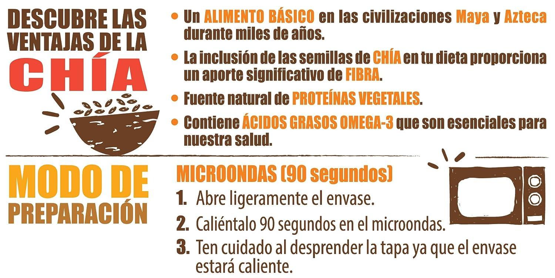 Brillante Benefit Legumbres, Chía, Verduras 250G - [Pack De 16] - Total 4 Kg: Amazon.es: Alimentación y bebidas