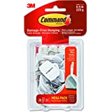 Command Wire Hooks Mega Pack, Small, White, 28-Hooks (17067-MPES)