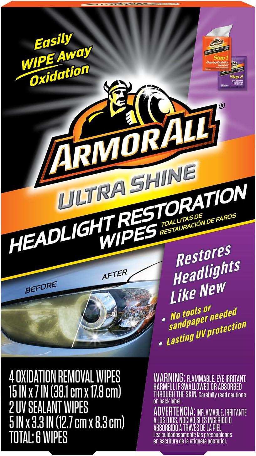 HEADLIGHT LENS WIPES Car Truck Lights UV Protection Cleaning Restoration Kit