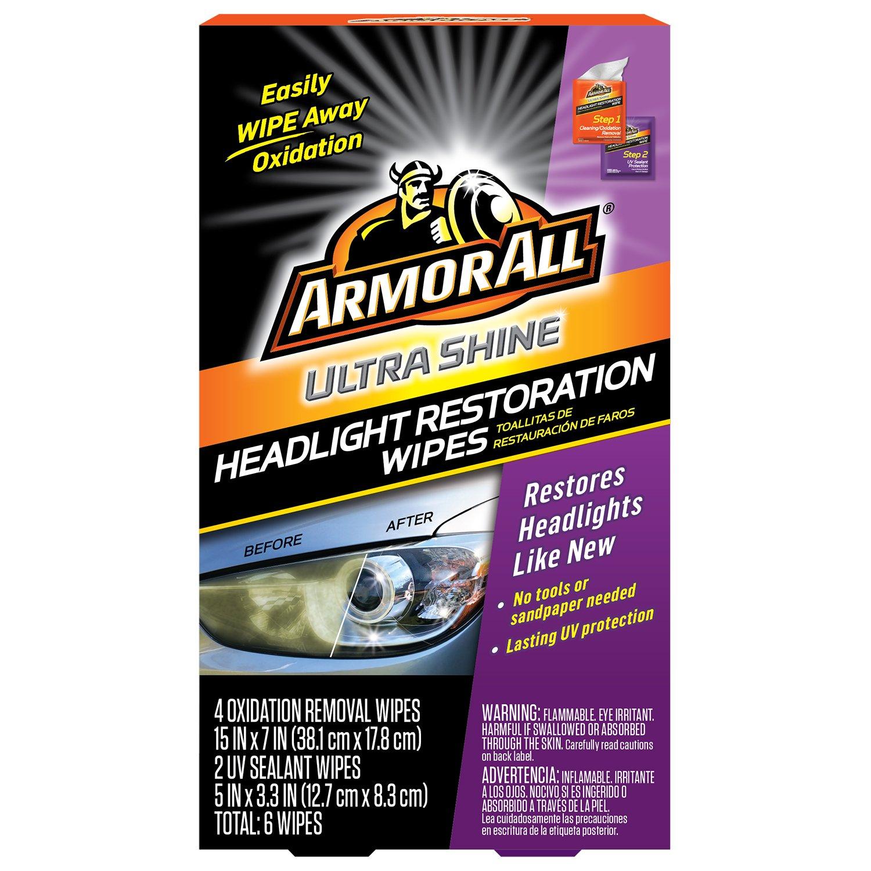 Armor All Ultra Shine Headlight Restoration Wipes (6 count) 18514